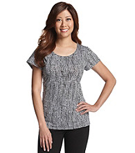 Notations® Petites' Allover Print Knit Tee