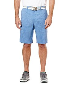 Callaway® Men's Big & Tall Heathered Flat Front Golf Shorts