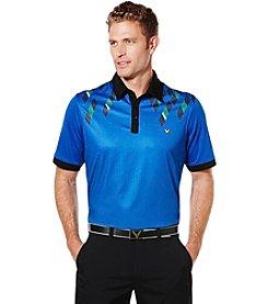 Callaway® Men's Big & Tall Short Sleeve Mini Argyle Print Polo