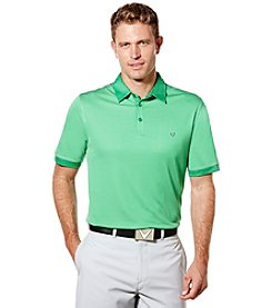 Callaway® Men's Big & Tall Industrial Jacquard Polo