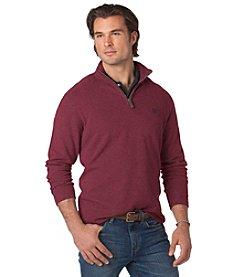 Chaps® Men's Big & Tall Long Sleeve Solid Quarter Zip Knit Sweater