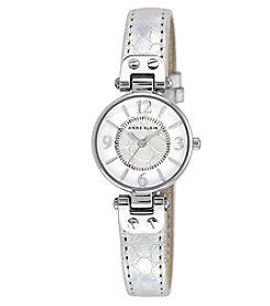 Anne Klein® Petite Silvertone Iridescent Strap Watch