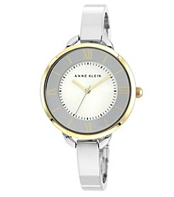 Anne Klein® Two-Tone Bangle with Matching Dial