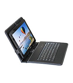 Linsay New 10.1-Inch QUADCORE 1024X600HD 8GB Android 4.4 Kit Kat with protective Leather Keyboard