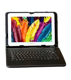 Linsay F-10Hd4Core Quad Tablet Bundle with Keyboard, Stand Up Case and Google Android 4.4 Jelly Bean OS