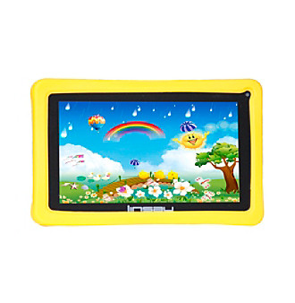"Linsay 7"" QUAD CORE 8GB Dual Cam Android 4.4 Tablet with Kids Defender Case"