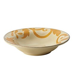 Rachael Ray® Gold Scroll Almond Cream 10