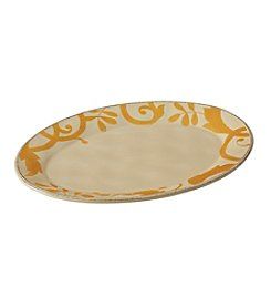 Rachael Ray® Gold Scroll Almond Cream Round Platter