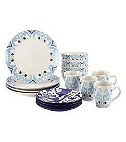 Rachael Ray® Ikat Blue Stoneware 16-pc. Dinnerware Set