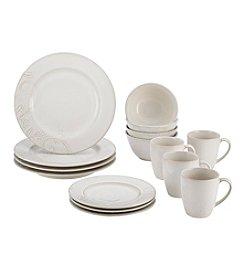 BonJour® Paisley Vine Stoneware Cream 16-pc. Dinnerware Set