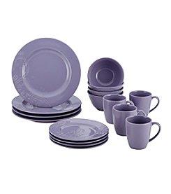BonJour® Paisley Vine Stoneware Lavender 16-pc. Dinnerware Set