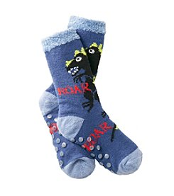 Statements Boys' Dinosaur Slipper Socks