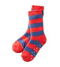 Statements Boys' Striped Slipper Socks