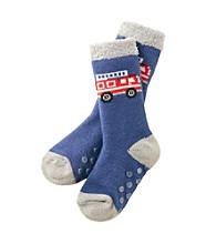 Statements Boys' Fire Truck Slipper Socks