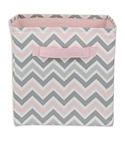 Chooty® Zoom Zoom Bella Twill Storage Bin with Duck Pink Handle