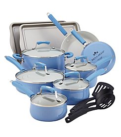 Paula Deen® Savannah Collection 17-pc. Blueberry Aluminum Nonstick Cookware Set