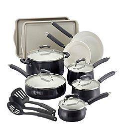 Paula Deen® Savannah Collection 17-pc. Black Aluminum Cookware Set with Bakeware