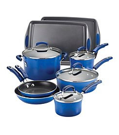 Rachael Ray® Hard Enamel 12-pc. Blue Cookware Set with Bakeware