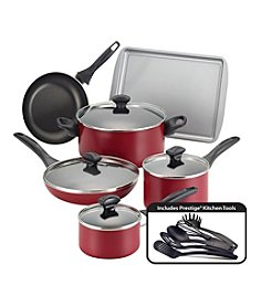 Farberware® 15-pc. Red Nonstick Cookware Set
