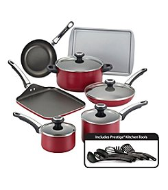 Farberware® High Performance 17-pc. Red Nonstick Cookware Set