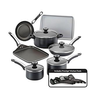 black nonstick cookware set