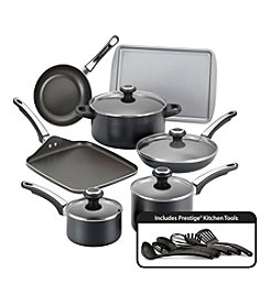 Farberware® High Performance 17-pc. Black Nonstick Cookware Set