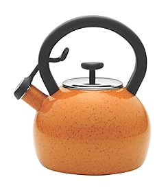 Paula Deen® Signature Teakettles Enamel on Steel 2-qt. Orange Whistling Teakettle