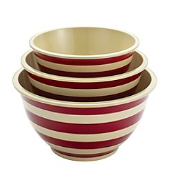 Paula Deen® Signature Pantryware 3-pc. Red Stripe Mixing Bowl Set