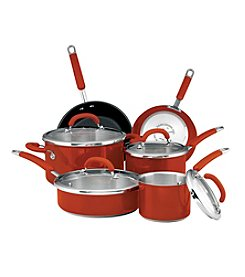 Rachael Ray® 10-pc. Red Colored Stainless Steel Cookware Set