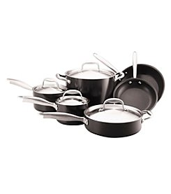 Anolon® 10-pc. Silver and Black Titanium Cookware Set