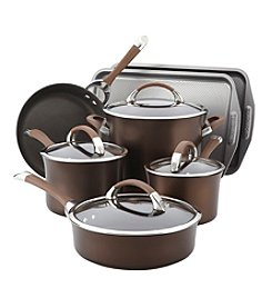 Circulon® Symmetry 9-pc. Chocolate Hard Anodized Nonstick Cookware Set with Bakeware