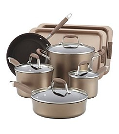 Anolon® Advanced 9-pc. Bronze Hard Anodized Nonstick Cookware Set with Bakeware