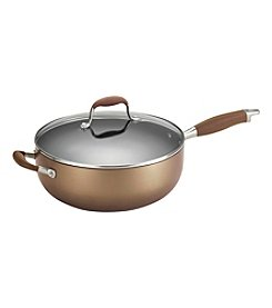 Anolon® Advanced 6.5-qt. Bronze Hard-Anodized Nonstick Covered Chef Pan with Helper Handles
