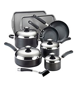 Circulon® Total 13-pc. Black Hard-Anodized Nonstick Cookware Set