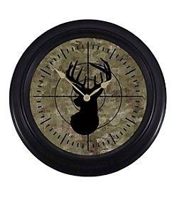 Ruff Hewn Buck Head Clock
