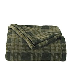 John Bartlett Pet Green Plaid Micro Cozy Throw