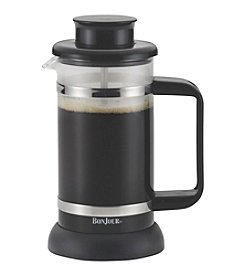 BonJour® Coffee and Tea 3-Cup Black Riviera French Press with Coaster and Scoop