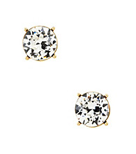 Lauren Ralph Lauren Signature Collection Crystal/Goldtone Faceted Round Stone Stud Earrings