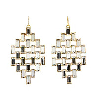 Lauren Ralph Lauren Signature Collection Crystal/Goldtone Small Pyramid Drop Earrings