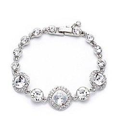 Givenchy® Silvertone/Crystal Flex Bracelet