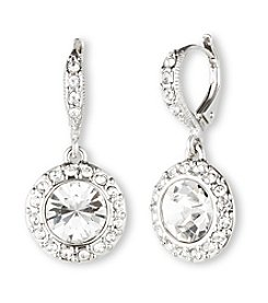 Givenchy® Silvertone/Crystal Drop Earrings