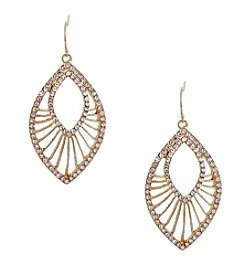 Erica Lyons® Goldtone Glamorous Open Teardrop Pierced Earrings