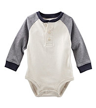 OshKosh B'Gosh® Baby Boys' Long Sleeve Henley Bodysuit