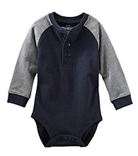 OshKosh B'Gosh® Baby Boys' Long Sleeve Navy Henley Bodysuit