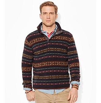 26722f6f5 ... best price upc 888529202217 product image for polo ralph lauren mens  fairisle fleece pullover upcitemdb.
