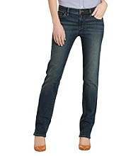 Lauren Jeans Co.® Petites' Super Stretch Slimming Classic Straight Jeans