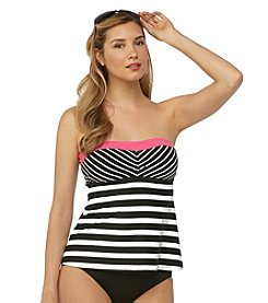 Beach House® Be Pink Bandeau Tankini Top