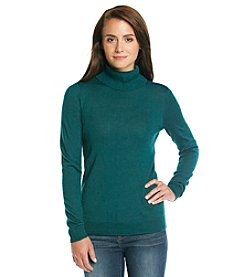 Relativity® Solid Turtleneck Sweater