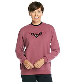 Morning Sun® Velvet Hearts Sweatshirt