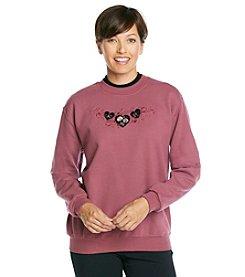 Morning Sun® Velvet Hearts Sweatshirt
